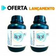 2 Resinas Pro - Standard - LCD/DLP - Loja 3D - 1 Litro