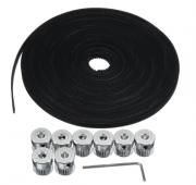 Correia + Polias - 10M GT2 Timing Cinto 6mm Wide + 10x Pulley + L Shape Chave - Impressora 3D - CNC - RepRap