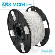 Filamento ABS - Branco - Premium MG94 - FAZ3D - 1.75mm - 1kg