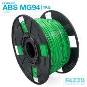Filamento ABS - Verde - Premium MG94 - FAZ3D - 1.75mm - 1kg