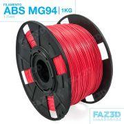 Filamento ABS - Vermelho Melancia - Premium MG94 - FAZ3D - 1.75mm - 1kg