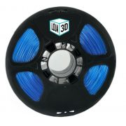 Filamento Flex TPU Premium - Azul Translúcido - Loja 3D - 1.75mm - 1kg