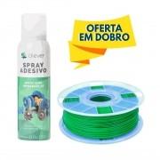 Filamento PLA - Verde - Cliever - 1.75mm - 1kg + 1 Spray Fixador