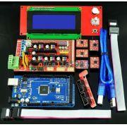 Kit Impressora 3D - Ramps 1.4 + Mega 2560 + 5pcs 2004 Lcd + A4988 RepRap Prusa i3