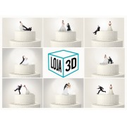 Impressão 3D de Topo de Bolo Festivo