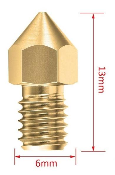 2 Bicos - Nozzle - 1.75mm - 0.2mm - Mk7 Mk8 Hotend para Impressora 3D