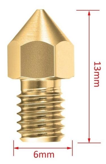 2 Bicos - Nozzle - 1.75mm - 0.6mm - Mk7 Mk8 Hotend para Impressora 3D