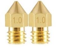 2 Bicos - Nozzle - 1.75mm - 1.0mm - Mk7 Mk8 Hotend para Impressora 3D