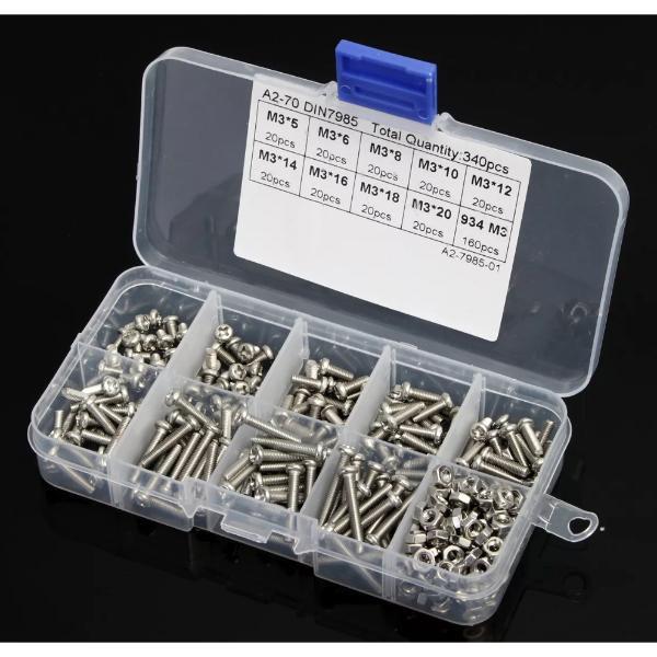 340 Peças Em Aço Inoxidável Para Impressoras 3D