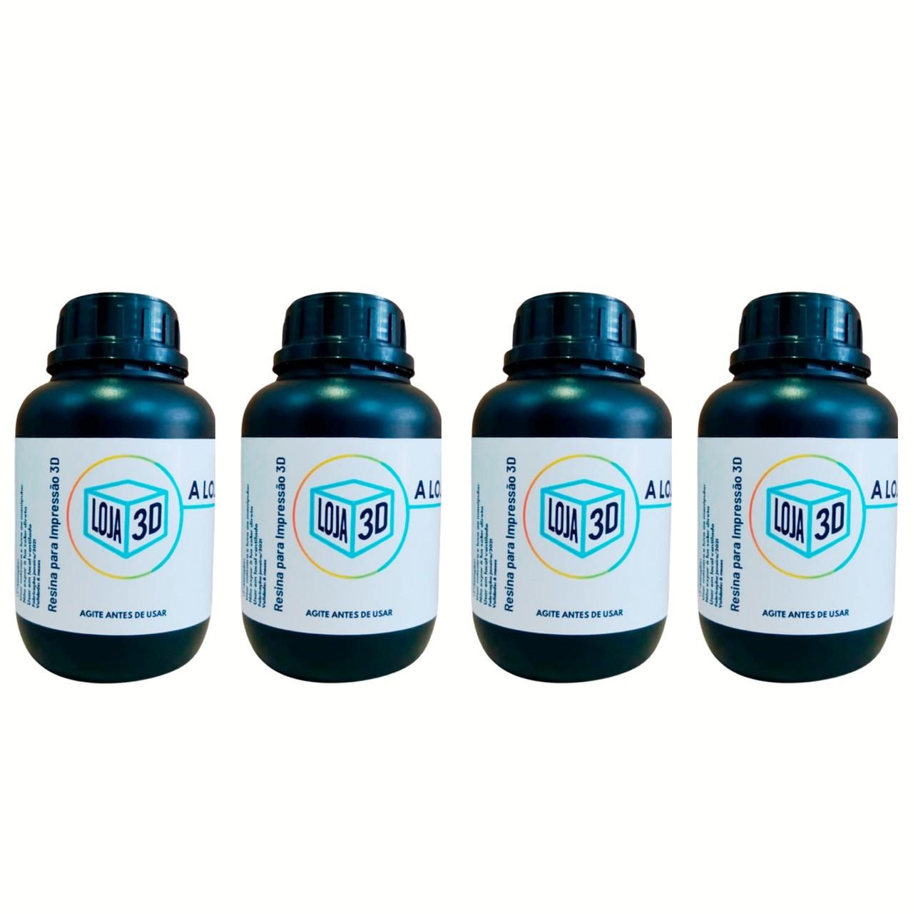 4 Resinas Pro - Standard - LCD/DLP - Loja 3D - 2 Litros