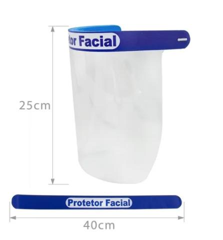 50 Protetores Faciais - Face Shield - EPI