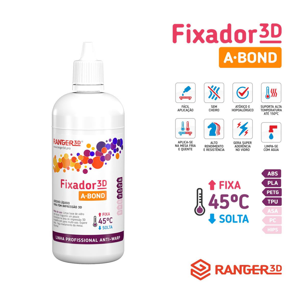 Adesivo Líquido Fixador para Impressão 3D - Cola A-Bond - 120ML