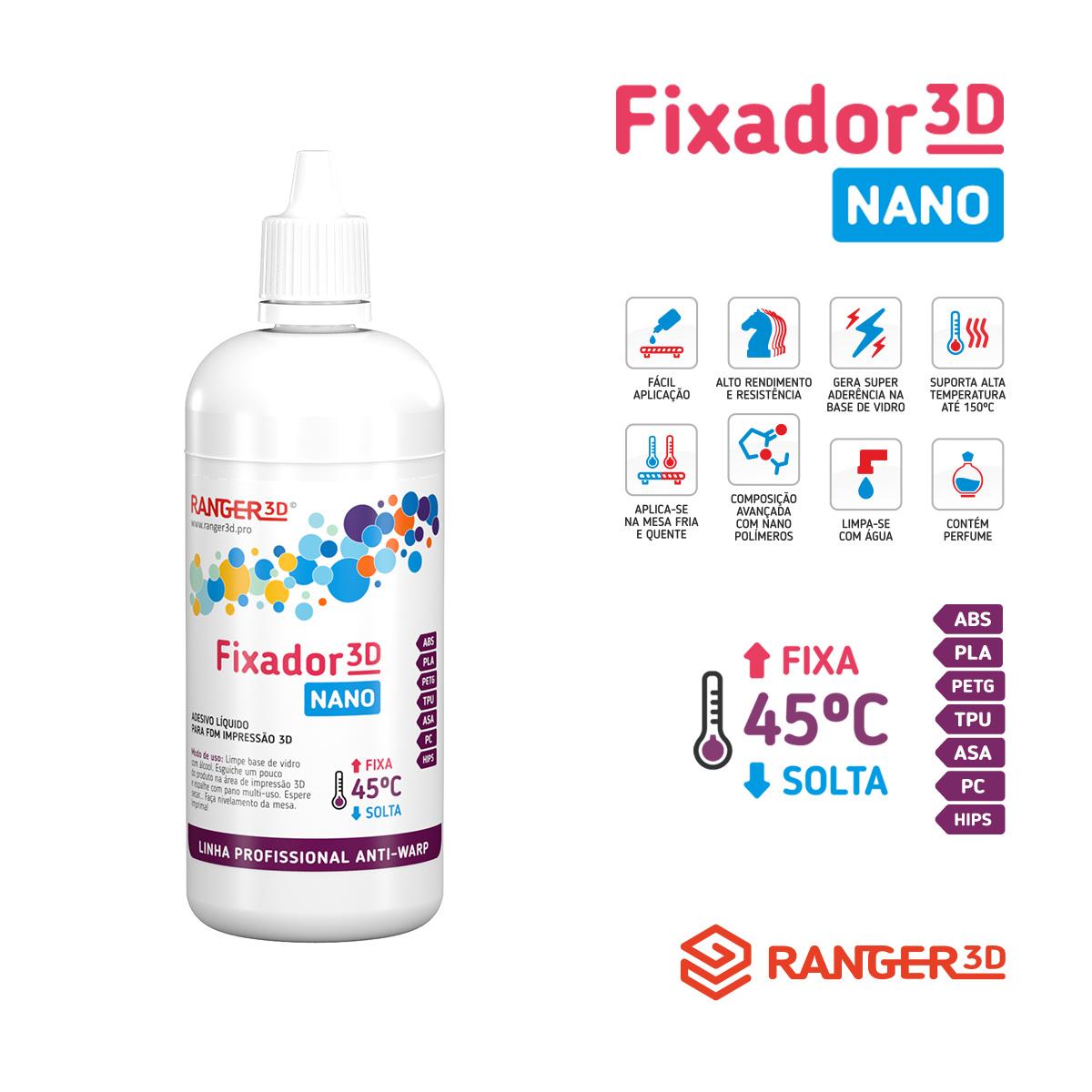 Adesivo Líquido Fixador para Impressão 3D - Cola NANO - 120ML