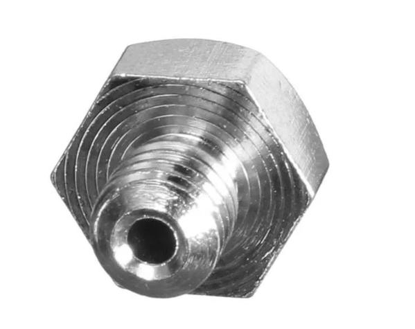 Bico Prata de 0.4mm MK8 para Filamentos de 1.75mm