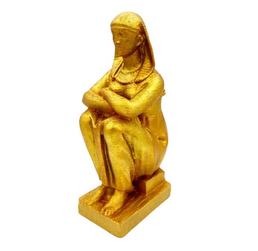 Estátua Faraó Dourada em Impressão 3D