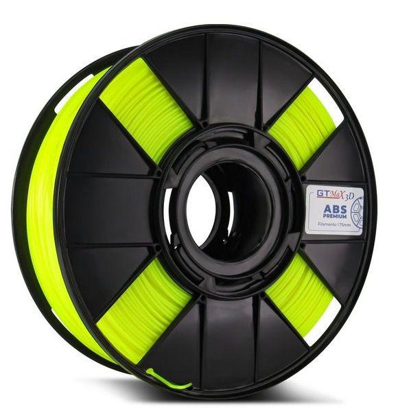 Filamento ABS - Amarelo fluorescente - Premium - GTMax 3D - 1.75mm