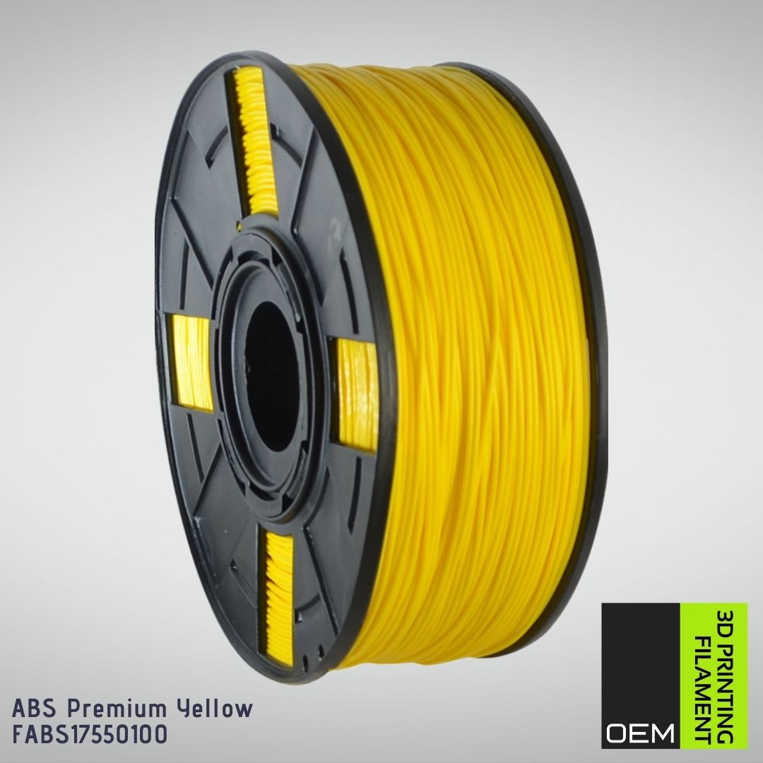 Filamento ABS - Amarelo - OEM - 1.75mm - 1KG