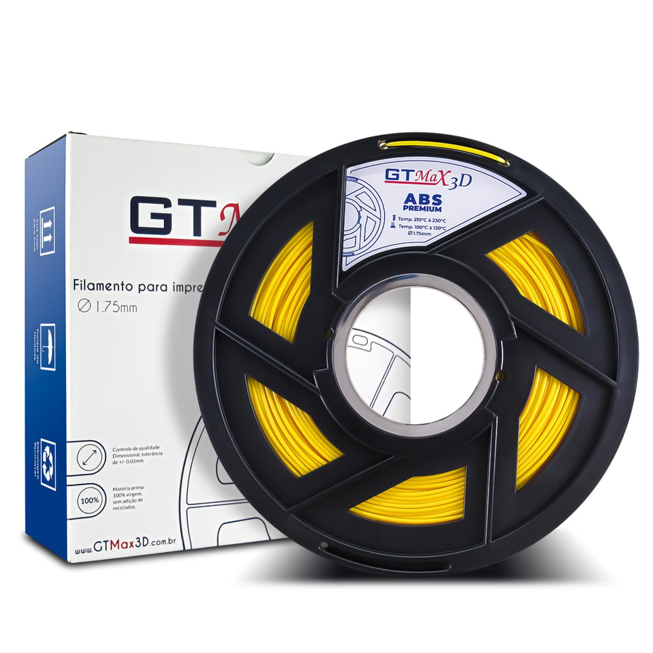 Filamento ABS - Amarelo - Premium - GTMax 3D - 1.75mm