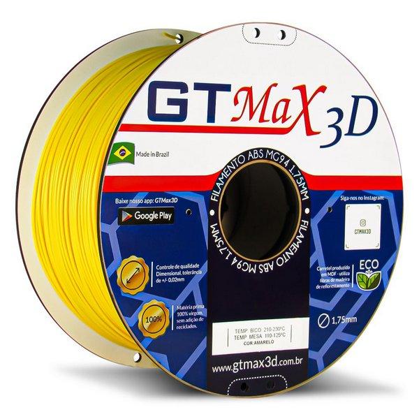Filamento ABS Amarelo - Premium MG94 - GTMax 3D - 1.75mm - 1kg
