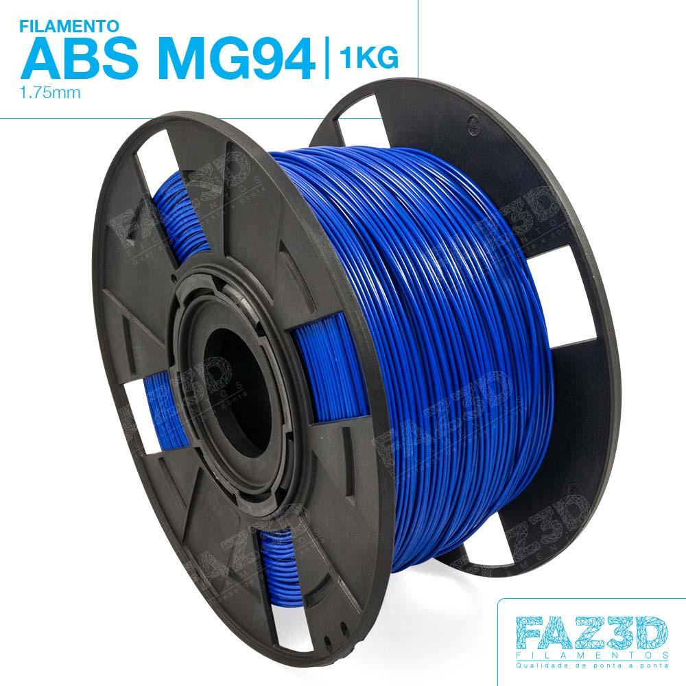 Filamento ABS - Azul - Premium MG94 - FAZ3D - 1.75mm - 1kg