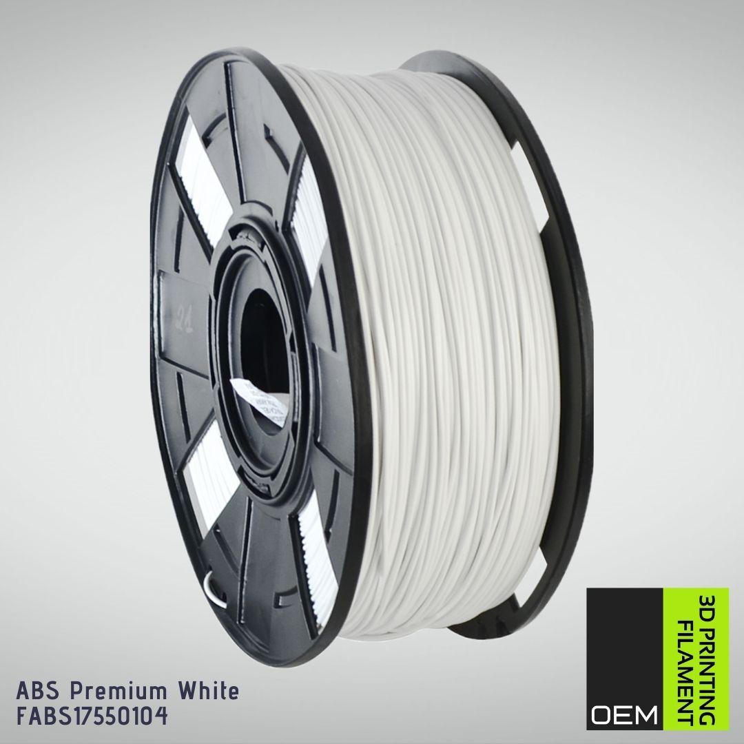 Filamento ABS - Branco - OEM - 1.75mm - 1KG
