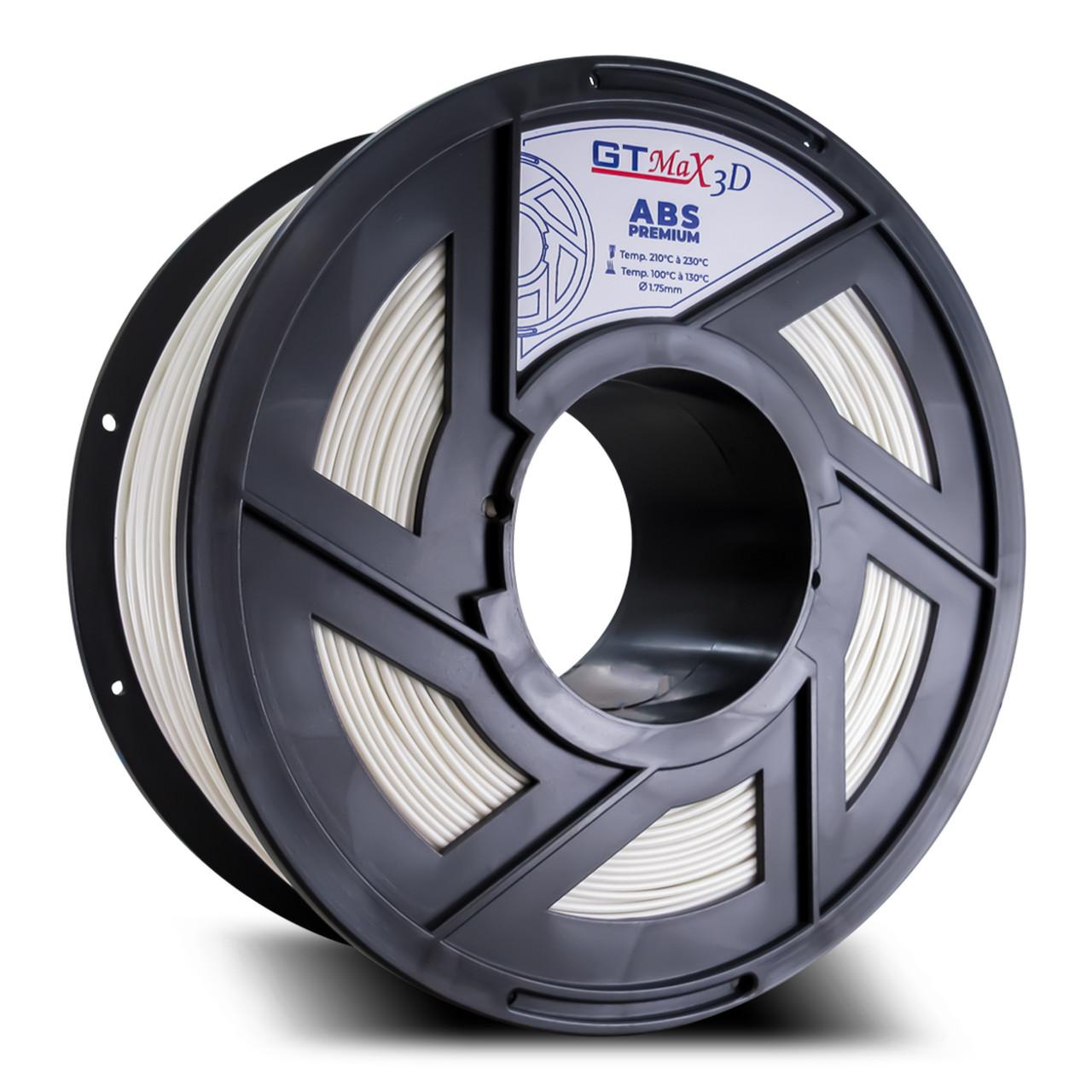 Filamento ABS - Branco - Premium - GTMax 3D - 1.75mm - 1KG