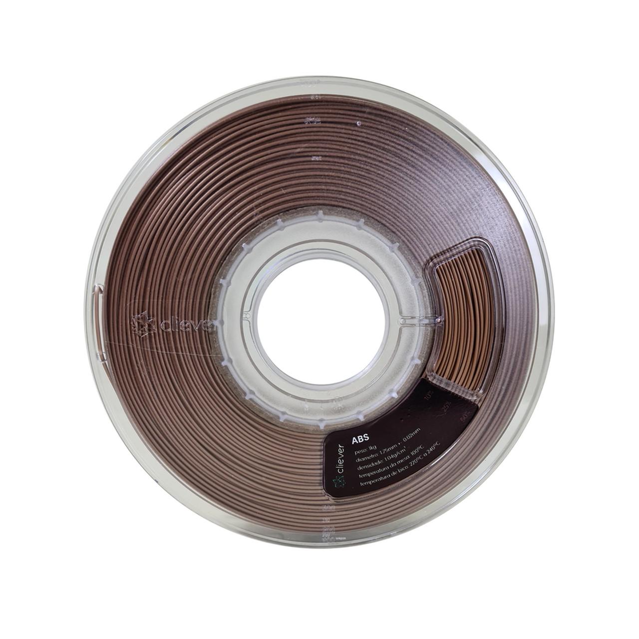 Filamento ABS - Bronze - Cliever - 1.75mm - 1kg