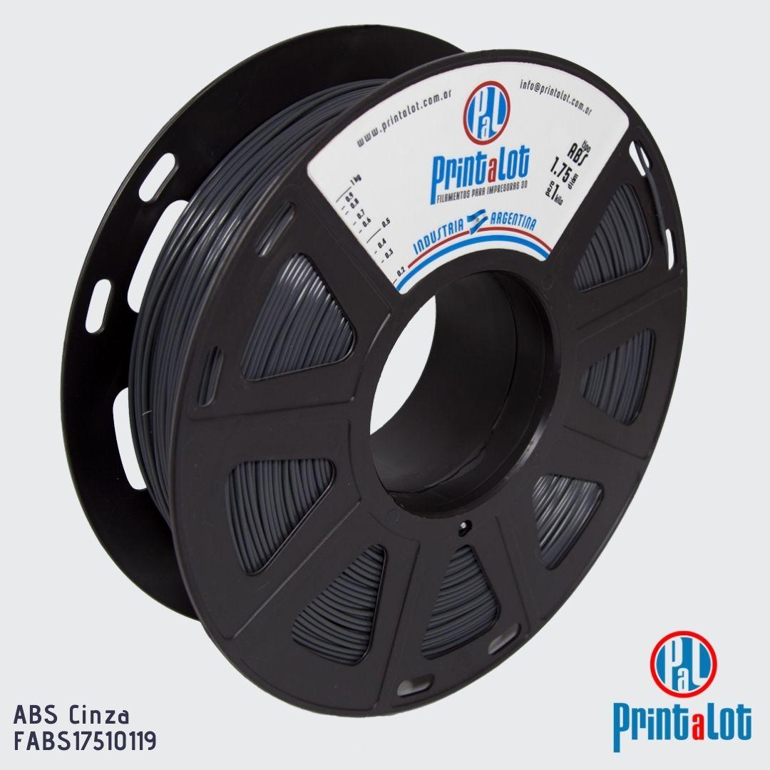 Filamento ABS - Cinza - PrintaLot - 1.75mm - 1KG