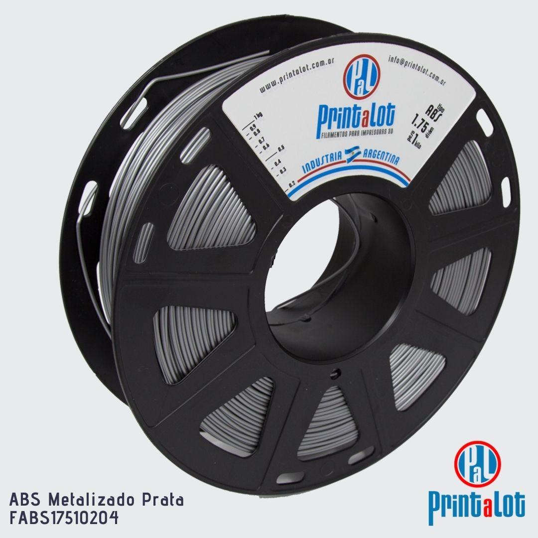 Filamento ABS - Metalizado Prata - PrintaLot - 1.75mm - 1KG