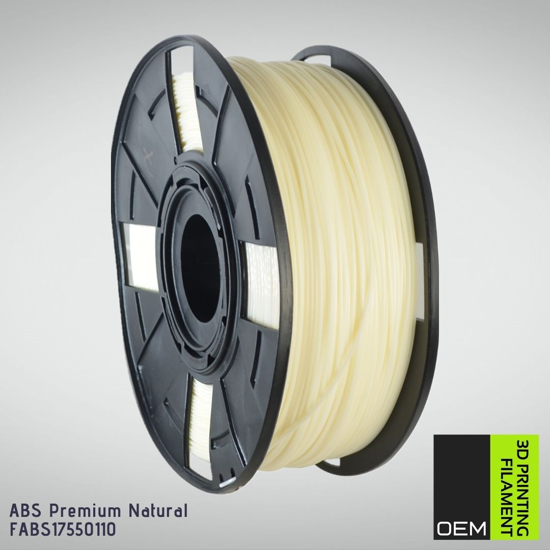 Filamento ABS - Natural - OEM - 1.75mm - 1KG