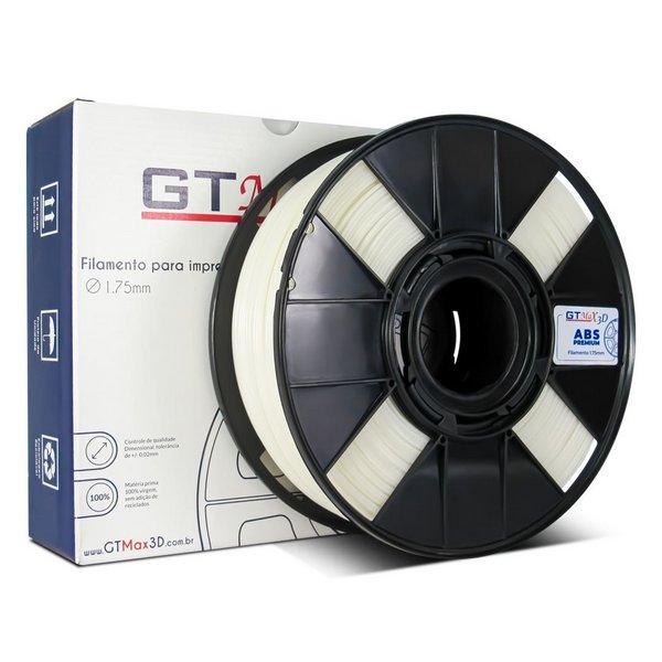 Filamento ABS - Natural - Premium - GTMax 3D - 1.75mm - 1KG