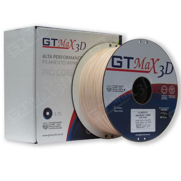 Filamento ABS- Nude - Premium MG94 - GTMax 3D - 1.75mm - 1KG