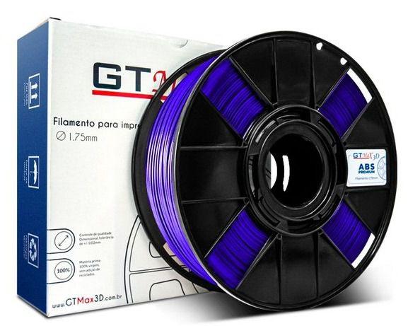 Filamento ABS - Roxo - Premium - GTMax 3D - 1.75mm - 1KG
