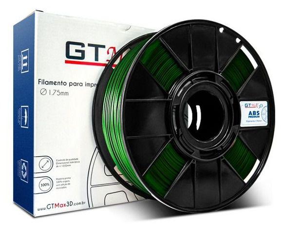 Filamento ABS - Verde - Premium - GTMax 3D - 1.75mm - 1KG