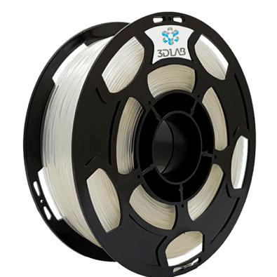 Filamento ABS Premium -  Cristal  - 3D Lab - 1.75mm - 1kg