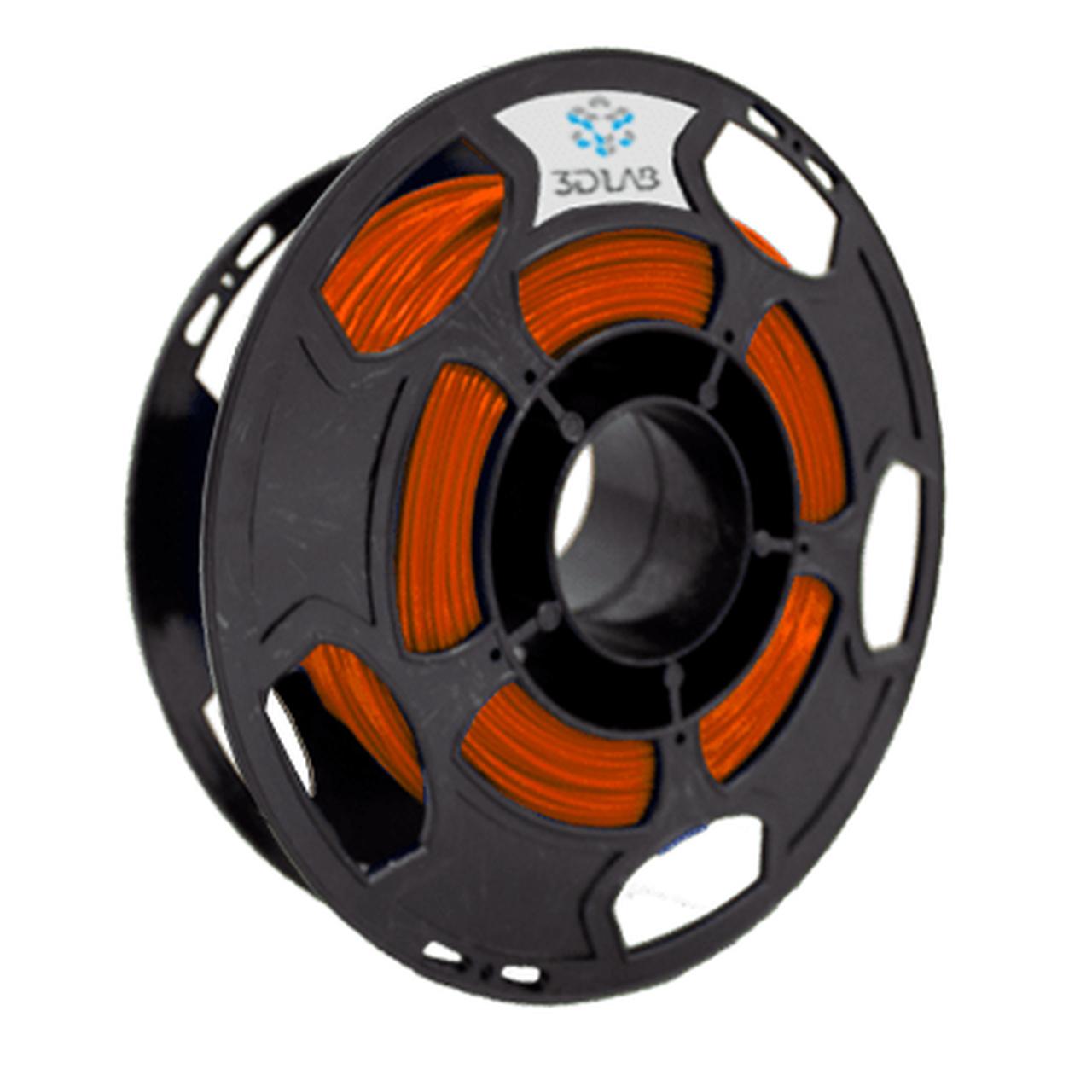 Filamento ABS Premium - Laranja - 3D Lab - 1.75mm - 500g