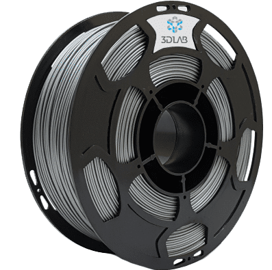 Filamento ABS Premium - Prata  - 3D Lab - 1.75mm - 1kg