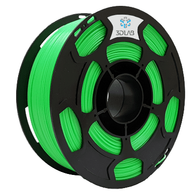 Filamento ABS Premium - Verde Limão - 3D Lab - 1.75mm - 1kg