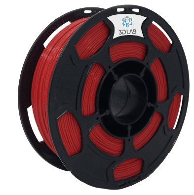 Filamento ABS Premium - Vermelho - 3D Lab - 1.75mm - 1kg