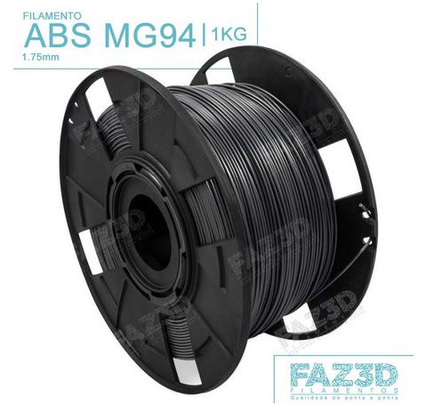 Filamento ABS - Preto - Premium MG94 - FAZ3D - 1.75mm - 1kg