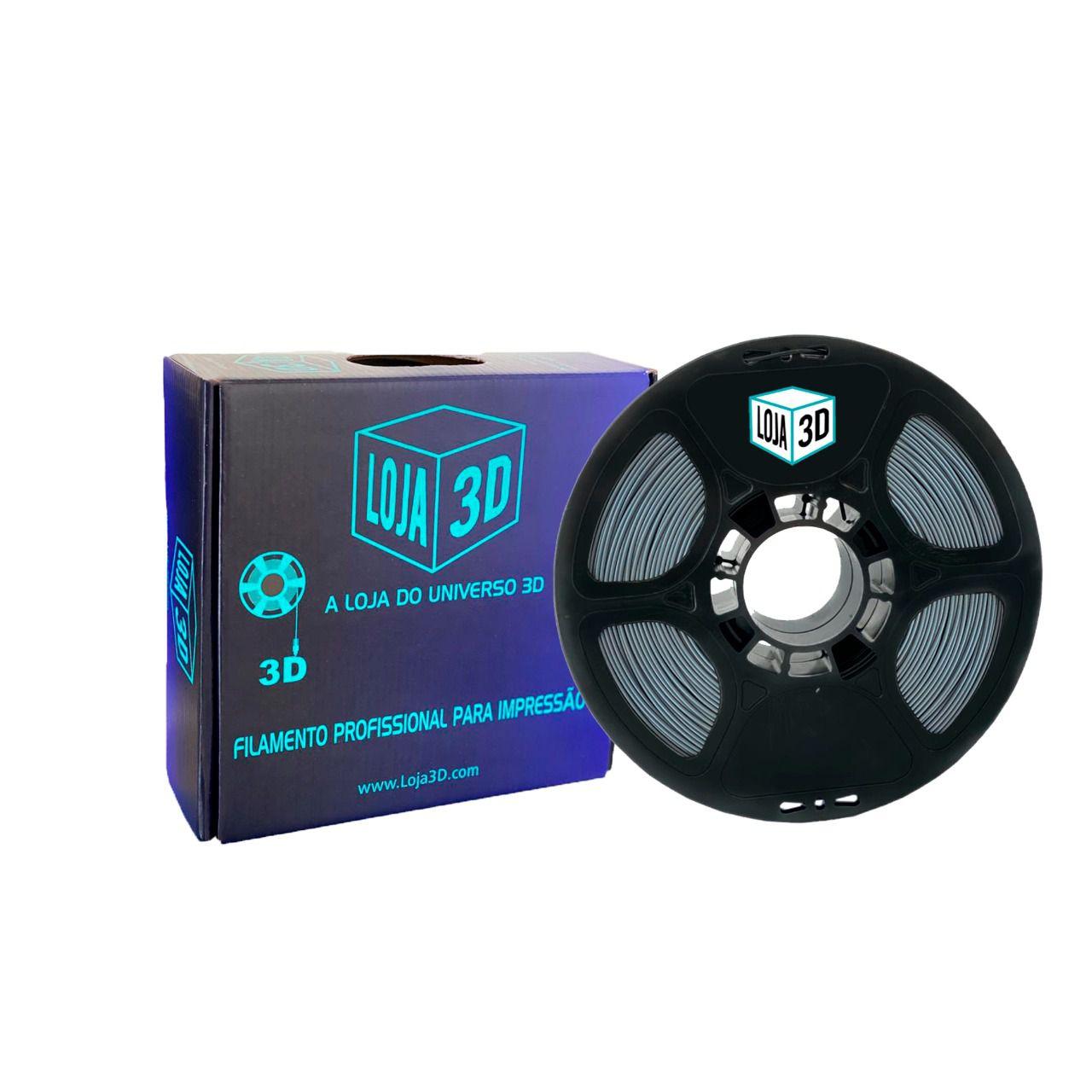 Filamento ABS Pro - LG - Cinza - Loja 3D - 1.75mm - 1kg