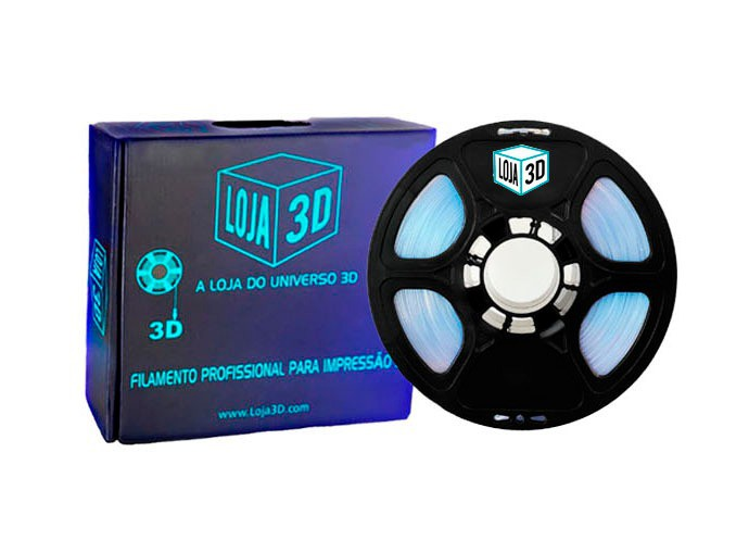 Filamento ABS Pro - Cristal Natural - Loja 3D - 1.75mm - 1kg