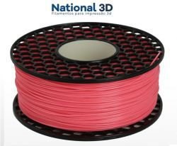 Filamento ABS - Rosa Chiclete - Premium MG94 - National 3D - 1.75mm - 1kg