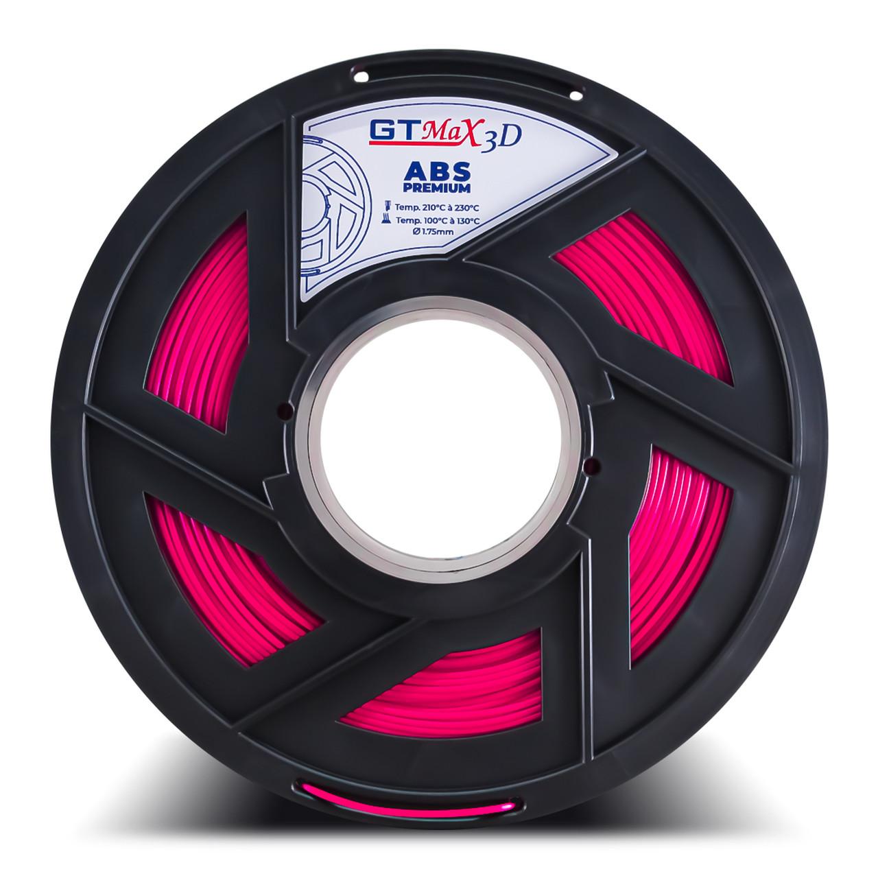 Filamento ABS - Rosa - Premium - GTMax 3D - 1.75mm - 1KG
