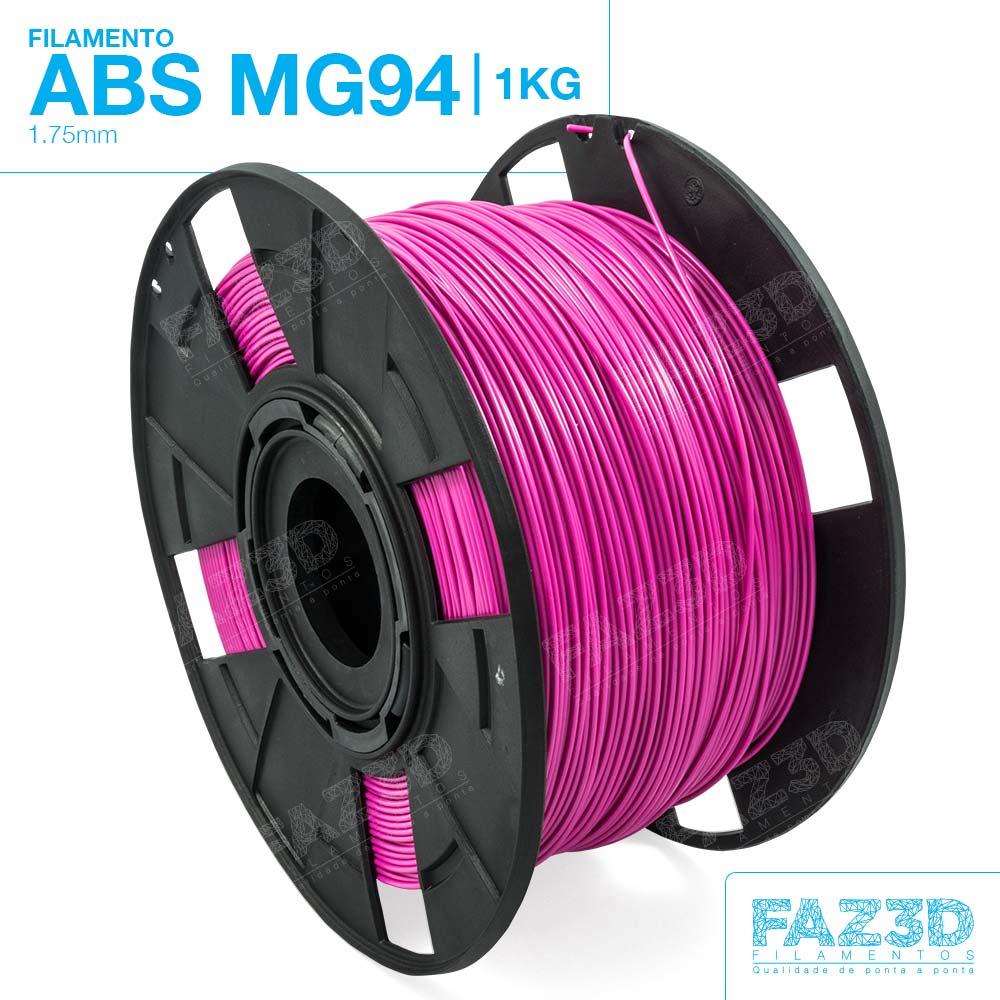Filamento ABS - Rosa - Premium MG94 - FAZ3D - 1.75mm - 1kg