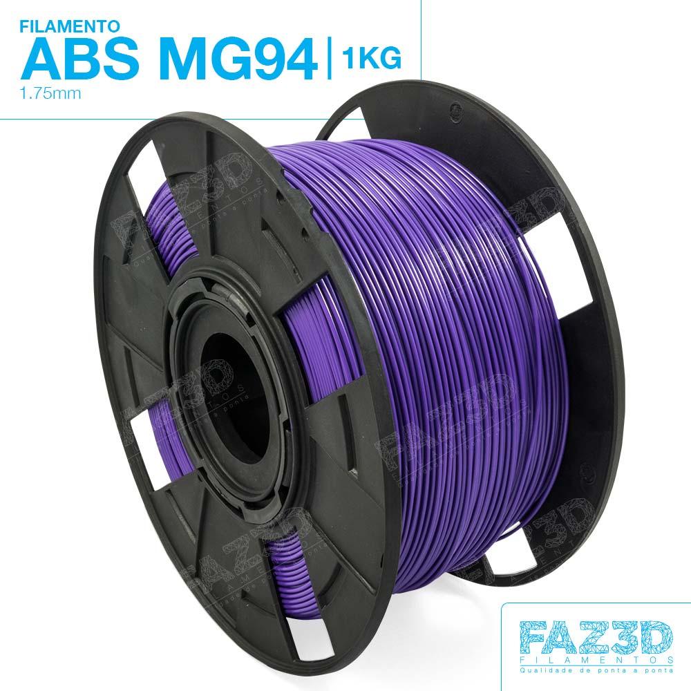 Filamento ABS - Roxo - Premium MG94 - FAZ3D - 1.75mm - 1kg