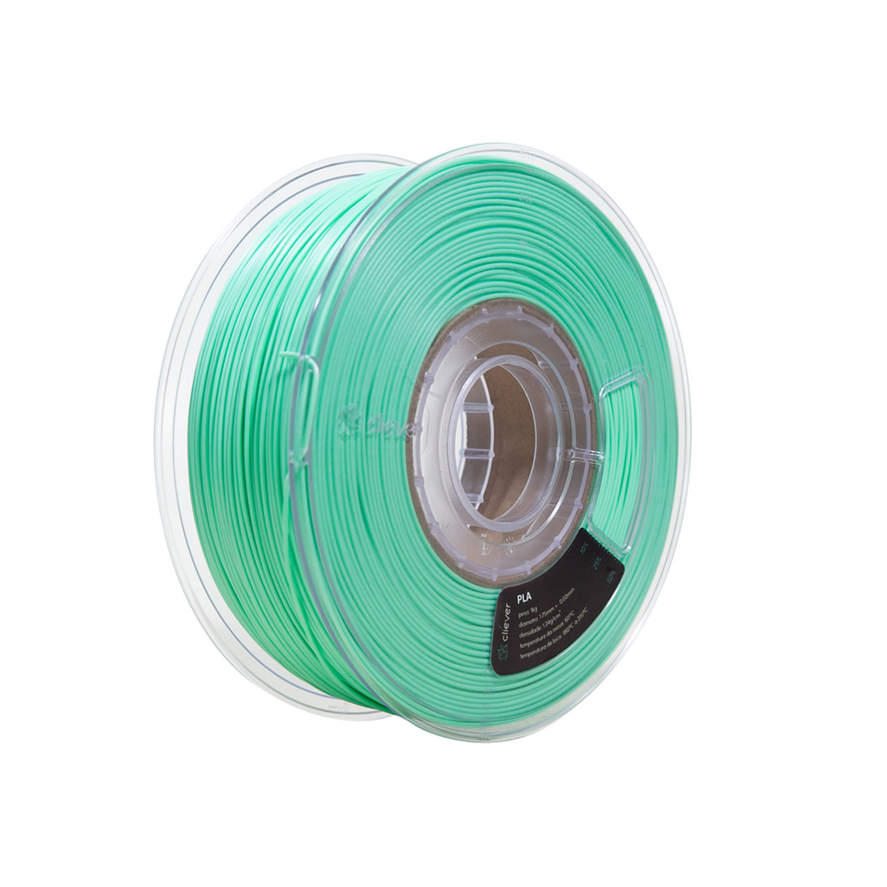 Filamento ABS - Verde Tifanny - Cliever - 1.75mm - 1kg