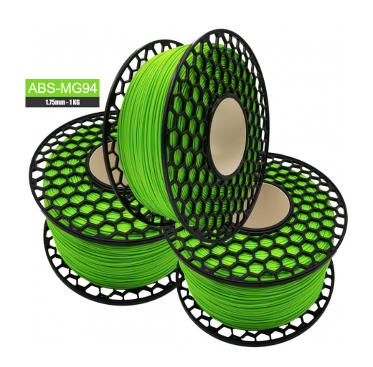 Filamento ABS - Verde Kawasaki - Premium MG94 - National 3D - 1.75mm - 1kg