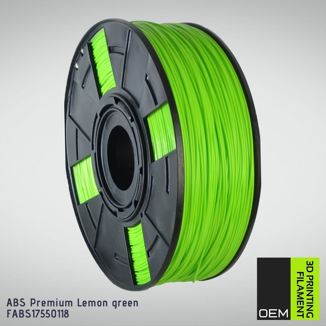 Filamento ABS - Verde Limão - OEM - 1.75mm - 1KG