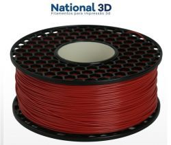 Filamento ABS - Vermelho Extintor - Premium MG94 - National 3D - 1.75mm - 1kg